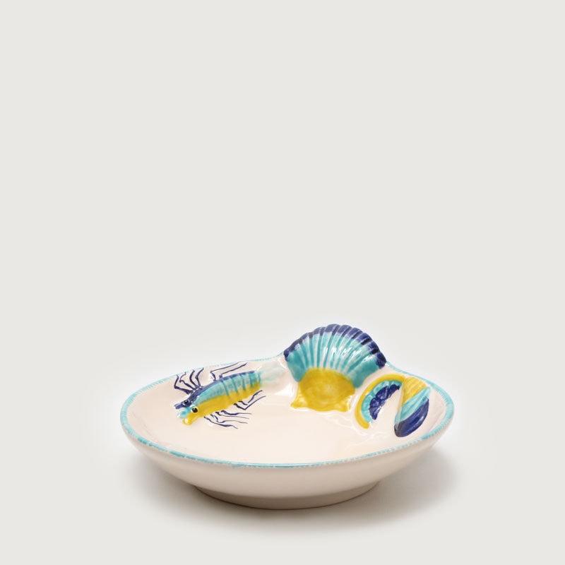 Prato-crustáceo-sobremesa